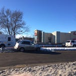 Scene of crash at Horsetooth Road and College Avenue on Sunday morning, Feb 7, 2016.