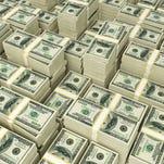 Money pile.