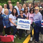 Hillary Clinton with Friends of Hill at the Memorial Day parade in Chappaqua.