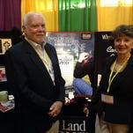 Jim and Penny Martin started the Melbourne-based Holy Land Stone Co. nearly 20 years ago. Here they are pictured at the International Cemetery, Cremation and Funeral Association convention this past spring in New Orleans.