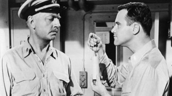 "William Powell and Jack Lemmon in ""Mr. Roberts"""
