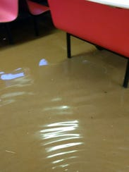 Six inches of floodwater filled the interior of the