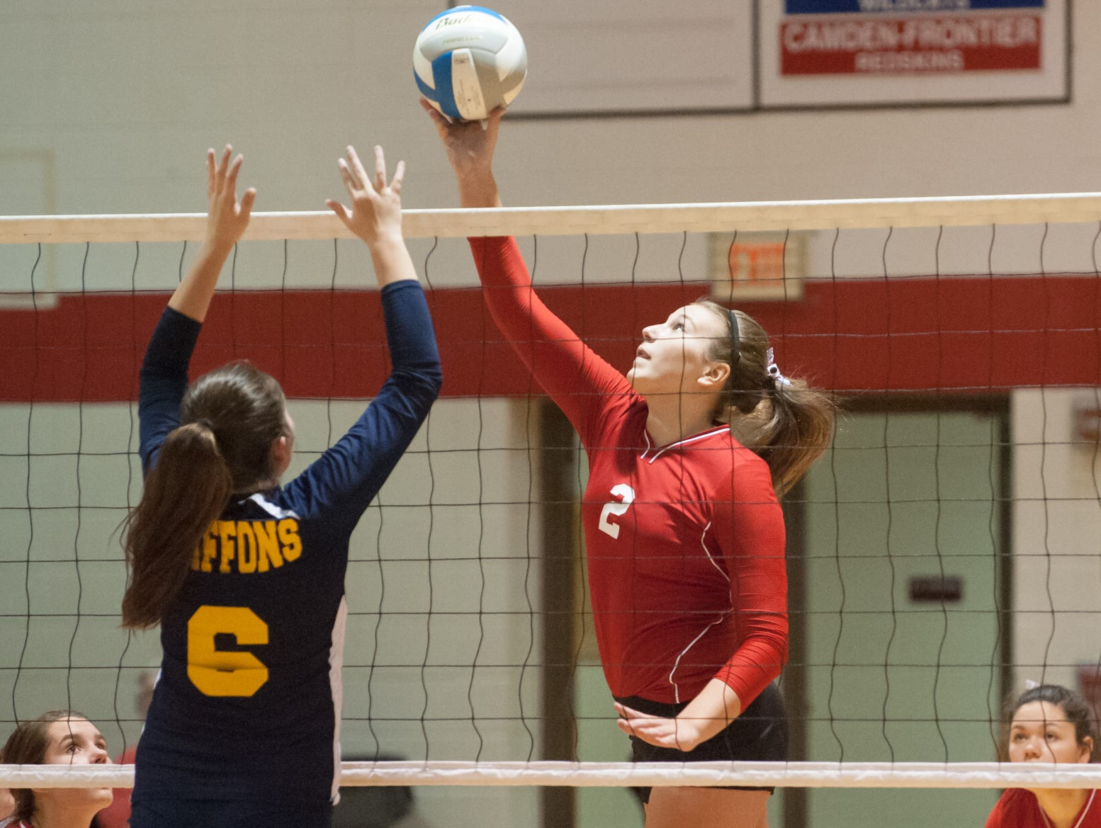 St. Philip's Anna Lehouiller in game action Tuesday night during district play.