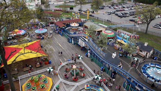 The Westchester County Legislature voted 17-0 to contract the management of Playland to Standard Amusement for five years. This file photo shows the view of Playland from the Ferris Wheel on opening day, May 10, 2014 in Rye.