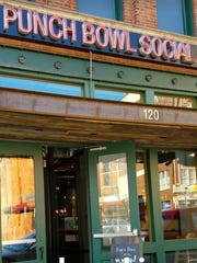 The 120 S. Meridian St. entrance to Punch Bowl Social is between Maryland and Georgia streets.