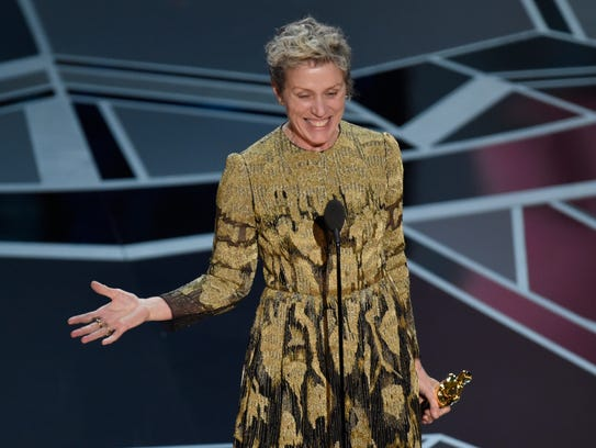 Frances McDormand accepts the award for best performance