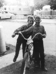 Army Spc. Walter M. Phillips of Salem, seen here on the right with his bike and his brother, was killed Sept. 6, 1967 during the Vietnam War. Sister Pat Creasey said this is the only photo she has of Phillips, who served as an armor intelligence specialist with the 1st Cavalry Division.