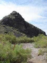 Outlaw Rock looks like an ice cream cone lying on its