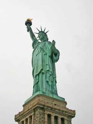 The Statue of Liberty, New York, New York.