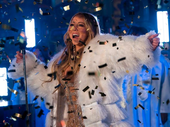 Mariah Carey performs during New Year's Eve celebrations
