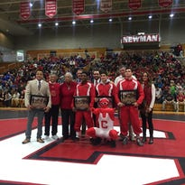 Video: Cornell recognizes senior wrestlers at final dual meet