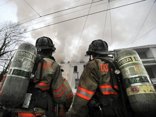 Volunteer firefighter numbers have declined steadily across the state since the 1970s, according to one report.  <i> York Daily Record/Sunday News -- Jason Plotkin</i>