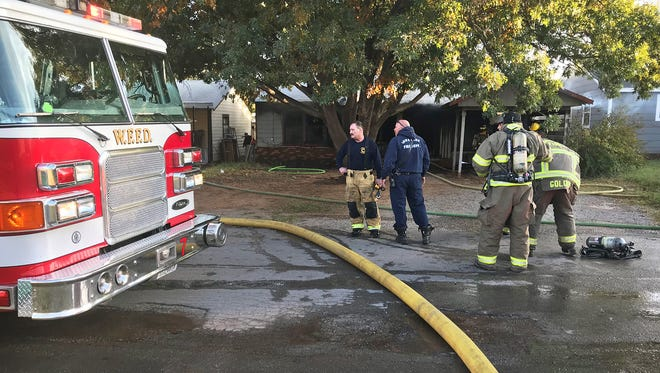 The Wichita Falls Fire Department provided mutual aid to help battle a house fire Thursday afternoon in the 500 block of West Alameda in Iowa Park. The homeowner was injured in the fire and taken to the hospital.