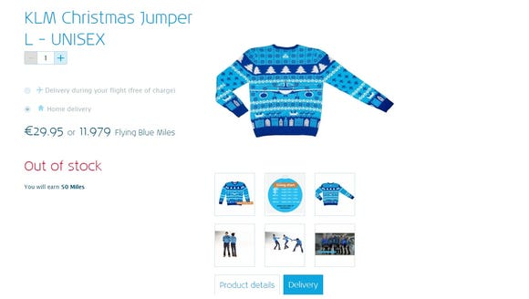 Dutch carrier KLM unveiled these airline-themed Christmas-style