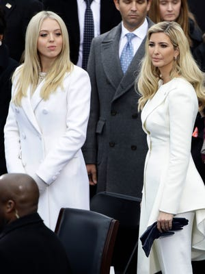 Tiffany, left, and her big sis Ivanka Trump at the Presidential Inauguration.