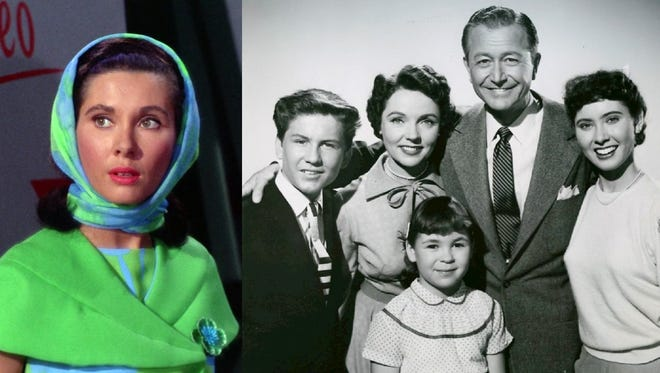 Elinor Donahue in Star Trek; Donahue with Robert Young and Jane Wyatt in Father Knows Best.