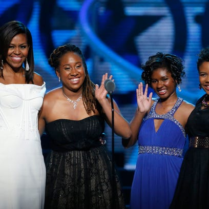 Michelle Obama, Kaya Thomas, Chental-Song Bembry, Gabrielle Jordan
