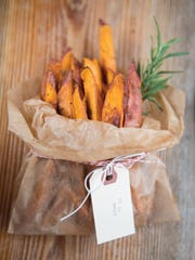 Hand-cut rosemary roasted sweet potato fries