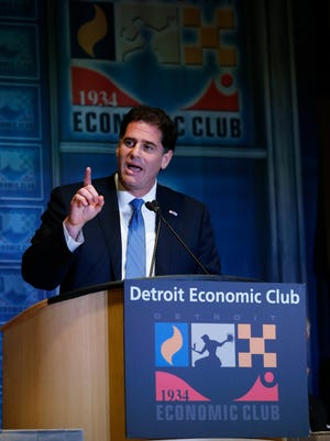 Ron Dermer, Israel's Ambassador to the United States of America addresses the Detroit Economic Club meeting at the Motor City Casino in Detroit, Michigan, on Monday, June 4, 2018.