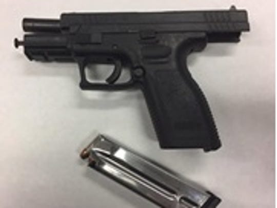 A semiautomatic handgun recovered by Oxnard police.