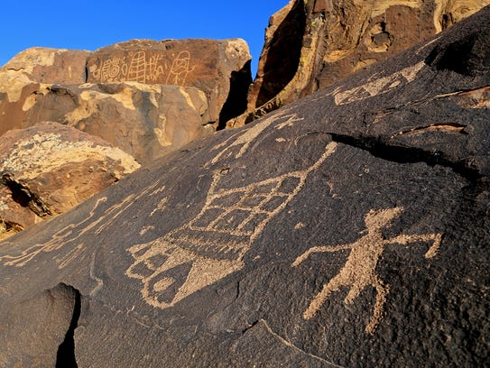 Land Hill Petroglyph Site in the Santa Clara River