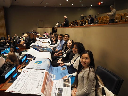 SCVTHS students at the United Nations Headquarters
