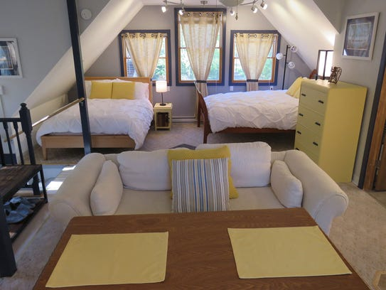 The loft is available for guests at The Spent Dandelion.
