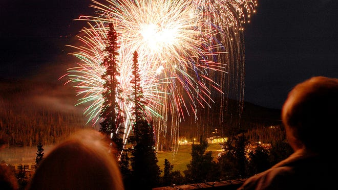 Fireworks light up the sky at Brian Head in this file photograph. More activities are planned for the July Fourth weekend.