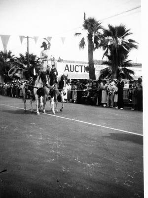 Montie performing in a Desert Circus Parade, circa 1937.