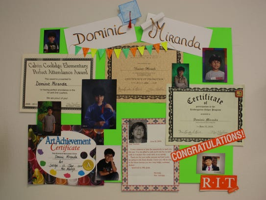 Students assembled posters that documented memories