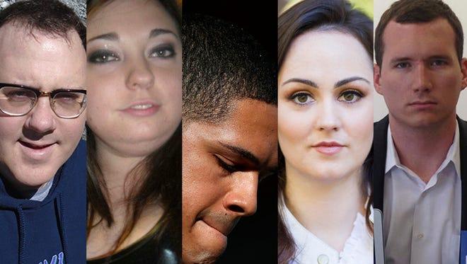 Hal Bowman, Micayla Medek, Brandon Wolf, Maisie Devine and Colin Goddard.