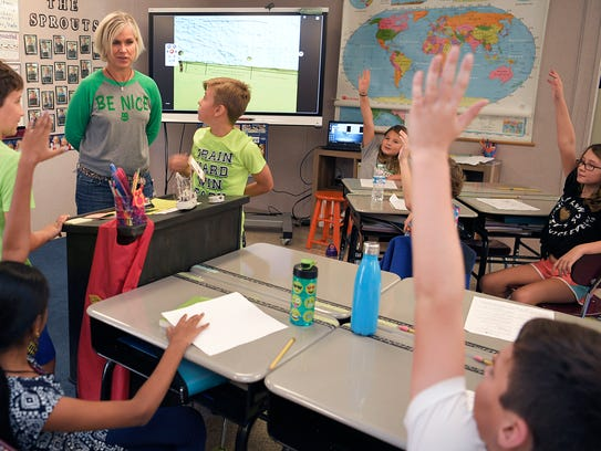 Oak View Elementary's Laura Hurd teaches her fourth