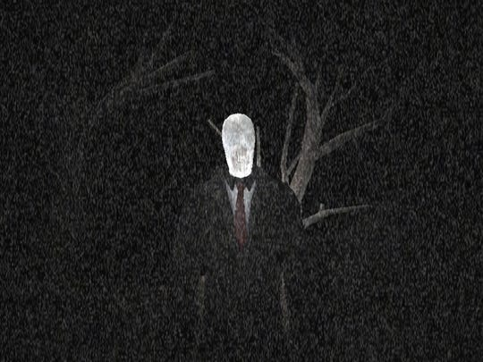 "Slender Man, shown here in ""Slender Rising,"" is arguably a modern-day boogie man."