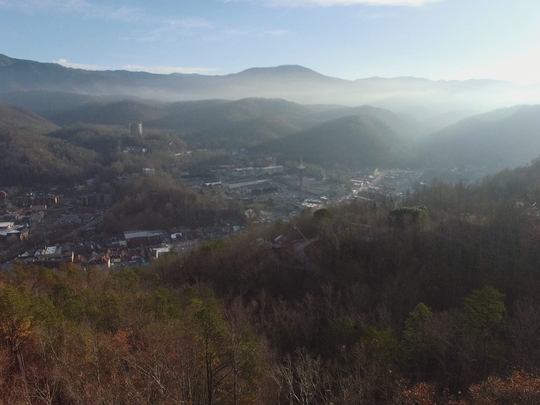 "A shot from the documentary, ""Smoky Mountain Strong,"" by the Bingham Group, which will premiere at the Knoxville Film Festival and document the Nov. 28, 2016, Gatlinburg wildfires."
