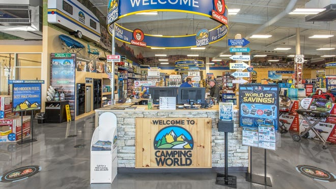 Camping World store interior.