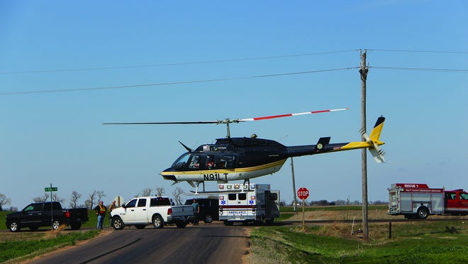 Pratt County emergency rescue crews and Kansas Highway Patrol teams responded to an injury accident Monday just after 11 a.m. near Byers.