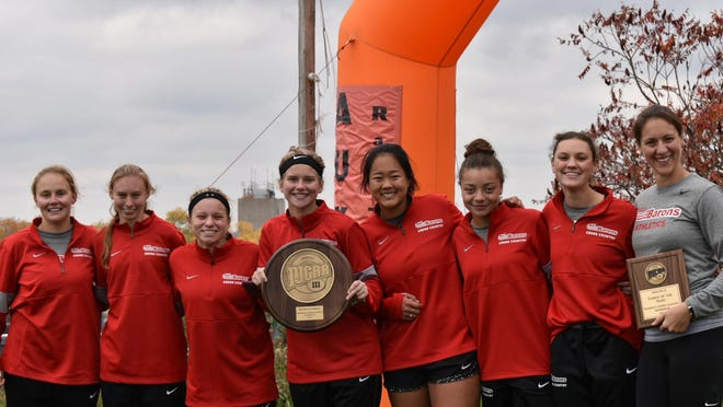 Pictured is the Corning Community College cross country team after capturing a NJCAA Region III title in 2019.