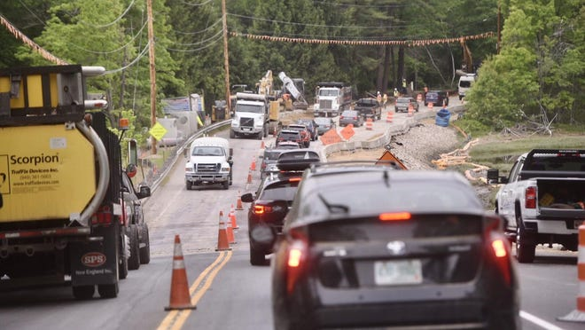 Contruction that is causing delays on Route 4 in Durham, as seen here Wednesday, is expected to intensify this summer.