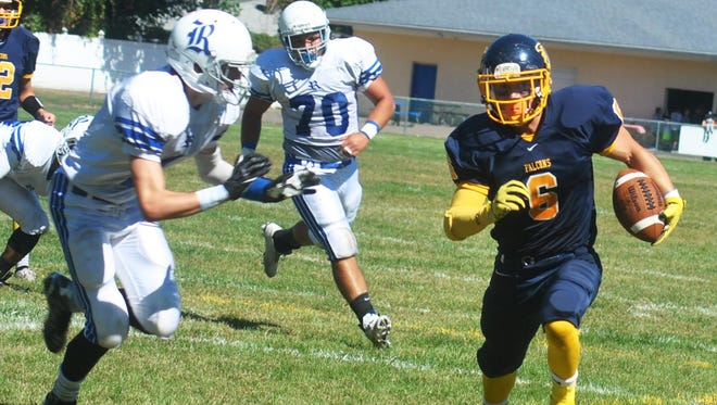 Saddle Brook senior running back Vinny Camilleri (6) will be one of the keys for the Falcons' offense this season.