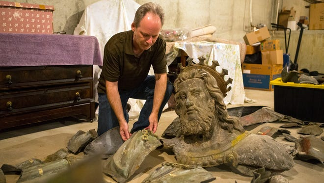 John Medkeff Jr. is working to raise $100,000 to restore a famous statue of King Gambrinus that once stood at Diamond State Brewery in Wilmington before it was torn down in the 1960's.