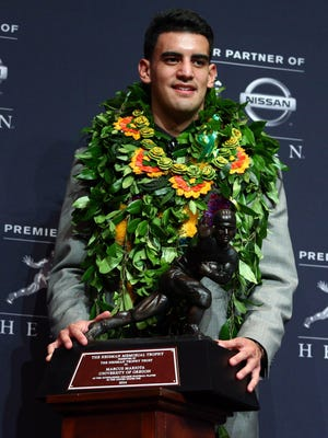 Marcus Mariota is the first player in Oregon history to win the Heisman Trophy.