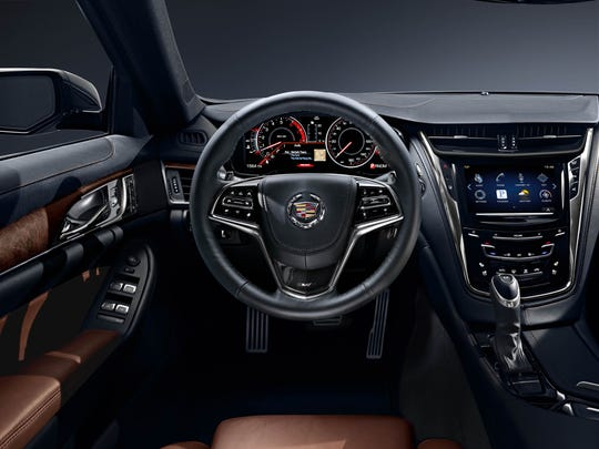 The all-new 2014 Cadillac CTS sedan ascends into the heart of the midsize luxury sedan segment, offering more interior space, power and technology with more than 20 new standard features compared with the 2013 model. The CTS is 5 inches longer, an inch lower and 244 pounds lighter.