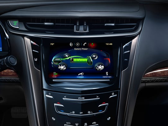The 2014 ELR coupe uses Cadillac's gesture-recognition CUE infotainment system that commands navigation, audio, calling and climate controls as if by iPad, or voice if you prefer.
