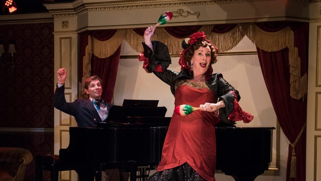 "Jack Forbes Wilson and Marguerite Willbanks perform in ""Souvenir,"" a Milwaukee Repertory Theater production."