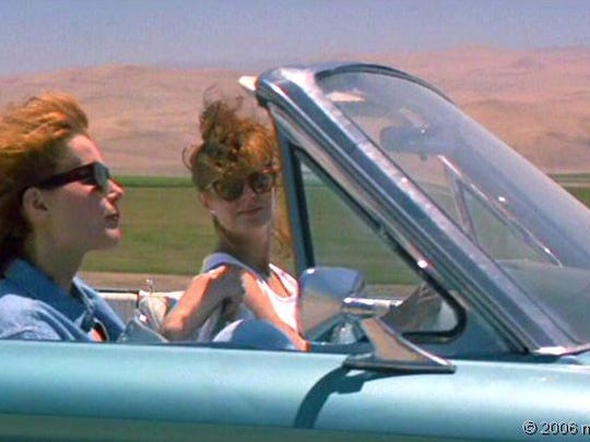 """Susan Sarandon and Geena Davis in a scene from """"Thelma and Louise."""""""