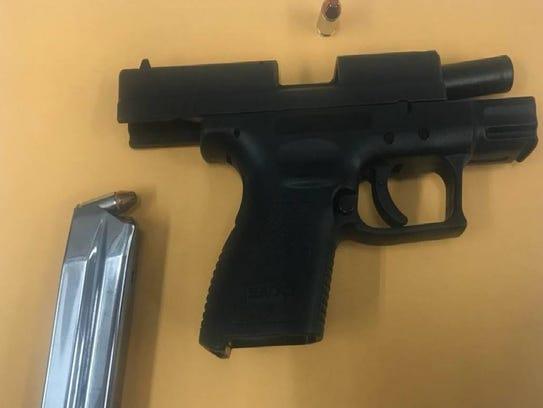 Salinas police seized a handgun.