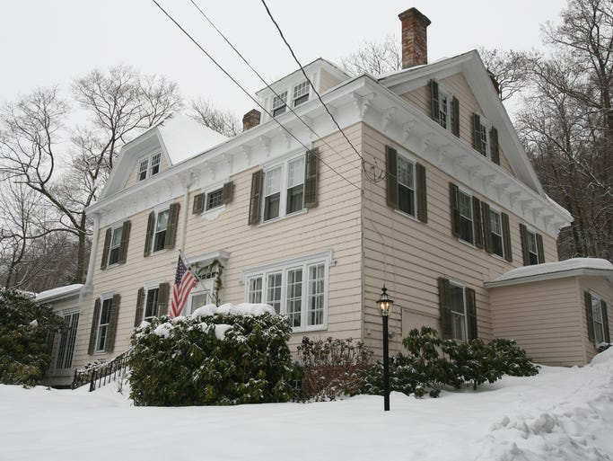 The exterior of the home of Gene and Nancy Weinberg in Grand View-on-Hudson, photographed Feb. 18, 2014. The five bedroom home is on the market.