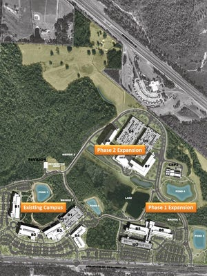 Phase 1 and 2 expansions on the Navy Federal campus.