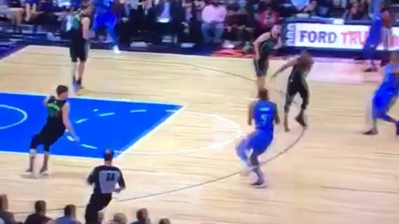 Jerami Grant got away with the most blatant travel of the NBA season