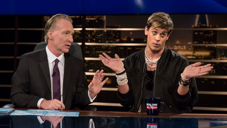 """Bill Maher and Milo Yiannopoulos on """"Real Time.'"""